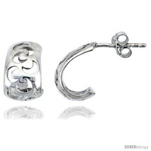 Sterling Silver Half-moon Post Earrings, 1/2in  (13  - $34.37