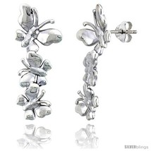 Sterling Silver Butterfly Post Earrings, 13/16in  (30  - $49.46