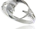 Sterling silver moon star ring polished finish 1 2 in wide thumb155 crop
