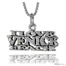 Sterling Silver I LOVE VENICE BEACH Word Neckla... - $24.45