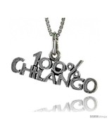 Sterling Silver 100 Percent CHILANGO Word Necklace, w/ 18 in Box  - $44.40