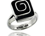 Sterling silver square shape swirl ring 5 8 in wide thumb155 crop
