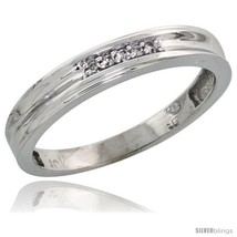 Size 6.5 - 10k White Gold Ladies' Diamond Wedding Band, 1/8 in wide -Style  - $124.71