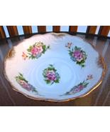 Vintage Porcelain Bowl/Decorative Bowl Floral Design Gilded Trim#5222 - $12.99