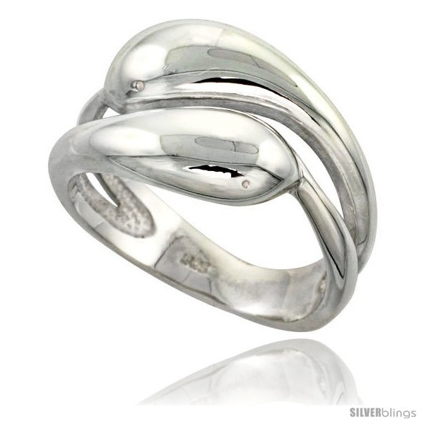 Sterling silver snakes ring flawless finish 1 2 in wide
