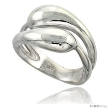 Size 8 - Sterling Silver Snakes Ring Flawless finish 1/2 in  - $58.59