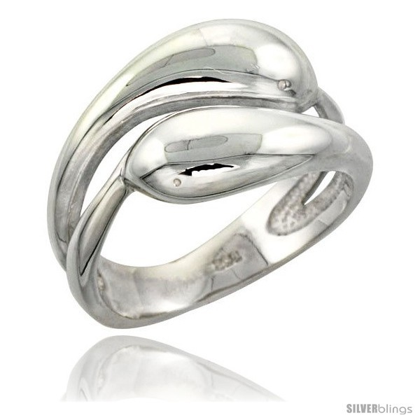 Size 8 - Sterling Silver Snakes Ring Flawless finish 1/2 in