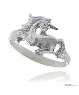 Size 9 - Sterling Silver Unicorn Ring Polished finish 3/8 in  - £10.68 GBP