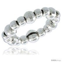 Sterling Silver Stretchable Bead Toe Ring / Kid's Ring on Elastic White ... - $22.74