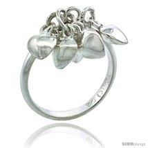 Size 5 - Sterling Silver (Size 3 to 5) Toe Ring / Kid's Ring w/ Clustere... - $22.74