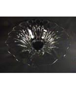 SIGNED HEISEY CONSOLE BOWL GORGEOUS FLARED  SUNFLOWER CRYSTAL PATTERN 19... - $31.96