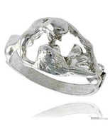 Sterling silver couple making love ring polished finish 7 16 in wide thumbtall