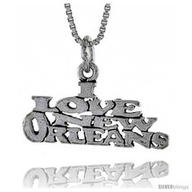 Sterling Silver I LOVE NEW ORLEANS Word Necklace, w/ 18 in Box  - $44.40