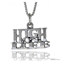 Sterling Silver HIGH ON LIFE Word Necklace, w/ 18 in Box  - $24.45