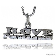 Sterling Silver I LOVE PORTLAND Word Necklace, w/ 18 in Box  - $24.45