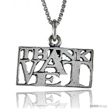Sterling Silver THANK A VET Word Necklace, w/ 18 in Box  - $44.40