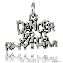 Sterling Silver Dancer Do It With Rhythm Word Necklace, W/ 18 In Box  - $44.40