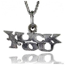 Sterling Silver YUCK FOU Word Necklace, w/ 18 in Box  - $44.40