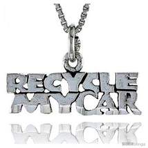 Sterling Silver RECYCLE MY CAR Word Necklace, w/ 18 in Box  - $44.40