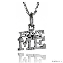 Sterling Silver EAT ME Word Necklace, w/ 18 in Box  - $44.40