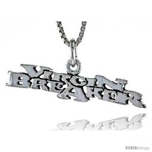 Sterling Silver Virgin Breaker Word Necklace, W/ 18 In Box  - $44.40