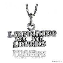 Sterling Silver LIBRARIES ARE FOR LOVERS Word Necklace, w/ 18 in Box  - $44.40