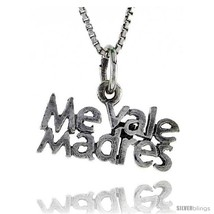 Sterling Silver ME VALE MADRES Word Necklace, w/ 18 in Box  - $44.40
