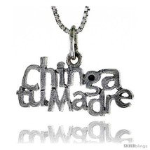 Sterling Silver CHINGA TU MADRE Word Necklace, w/ 18 in Box  - $44.40