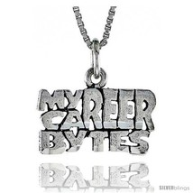Sterling Silver MY CAREER BYTES Word Necklace, w/ 18 in Box  - $44.40