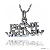 Sterling Silver ESCAPE WISCONSIN Word Necklace, w/ 18 in Box  - $44.40