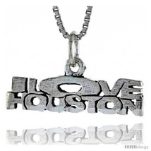 Sterling Silver I LOVE HOUSTON Word Necklace, w/ 18 in Box  - $44.40