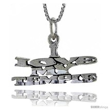 Sterling Silver I LOVE MY TEMPLE Word Necklace, w/ 18 in Box  - $44.40