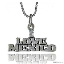 Sterling Silver I LOVE MEXICO Word Necklace, w/ 18 in Box  - $44.40