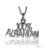 Sterling Silver 100 Percent ALBANIAN Word Necklace, w/ 18 in Box  - $44.40