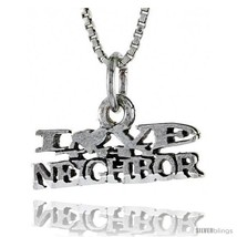 Sterling Silver I LOVE MY NEIGHBOR Word Necklace, w/ 18 in Box  - $44.40