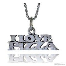 Sterling Silver I LOVE PIZZA Word Necklace, w/ 18 in Box  - $24.45