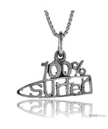 Sterling Silver 100 Percent SURFER Word Necklace, w/ 18 in Box  - $44.40