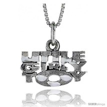 Sterling Silver LITTLE GIRLY TOY Word Necklace, w/ 18 in Box  - $835,52 MXN