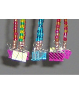Chimes with large Paper Clips and Multicolored Pony Beads  - $26.95