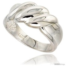Size 9 - Sterling Silver Domed Ridge Ring Flawless finish 3/8 in  - $38.25