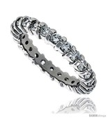 Size 6 - Sterling Silver Cubic Zirconia Eternity Band Ring Brilliant Cut... - $71.24