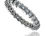 Erling silver cubic zirconia eternity band ring brilliant cut 2 5mm rhodium finish thumb155 crop