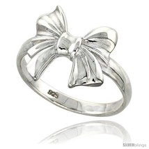 Size 7.5 - Sterling Silver Bow Ring Flawless fi... - $26.63