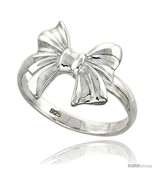 Size 7.5 - Sterling Silver Bow Ring Flawless finish 3/4 in  - £20.23 GBP
