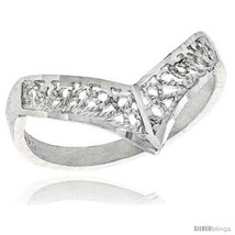 Size 6 - Sterling Silver Crown Type Filigree Ring, 3/8  - $11.47