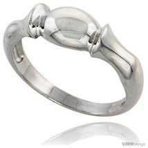 Size 8 - Sterling Silver Freeform Ring Flawless finish 5/16 in  - $28.16
