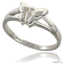 Sterling silver dainty butterfly ring flawless finish 5 16 in wide thumb200