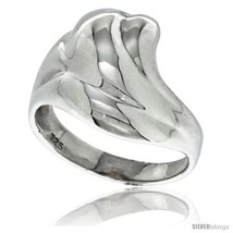 Size 5 - Sterling Silver Freeform Ring 1/2 in  - $27.46