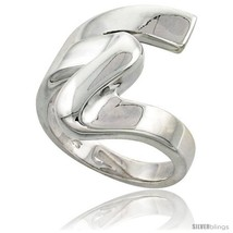 Size 9.5 - Sterling Silver Swirl Ring Flawless finish 7/8 in  - $76.91