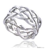 Size 13 - Sterling Silver Men's Woven Ring Flawless finish 1/2 in  - £34.93 GBP